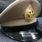 หมวกหม้อตาลชายสีกากี หน้าครุฑโลหะ