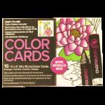 การ์ดระบายสี Chameleon Coloring Cards - Nature