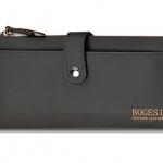 กระเป๋าสตางค์บุรุษ หนังแท้ BOGESI ทรงยาว สีดำ