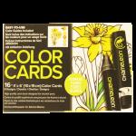 การ์ดระบายสี Chameleon Coloring Cards - Flower