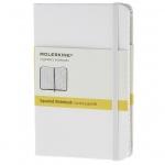 สมุด Moleskine Hard Cover หน้าเส้นตารางเล็ก ปกแข็ง สีขาว - ขนาด A5