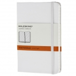 สมุด Moleskine Hard Cover มีเส้นบรรทัด ปกอ่อน สีขาว ขนาด Pocket