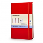 สมุดสเก็ตช์ Moleskine - Sketchbook Art Plus ปกแข็ง สีแดง ขนาด Pocket