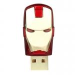 แฟลชไดร์ฟไอร่อนแมน(iron man) ความจุ 16 GB เวลาเสียบมีไฟสีฟ้าที่ตา