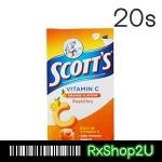 Scott's Vitamin C Pastilles (รสส้ม 20ชิ้น) สก๊อตต วิตามิน ซี ให้วิตามินซีสูง เสริมภูมิต้านทาน ไม่ป่วยง่าย รสชาติอร่อย ทานง่าย