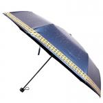 100% UV Cut Horoscope Folding Umbrella ร่มพับกัน uv 100%เคลือบดำ12ราศี - น้ำเงิน