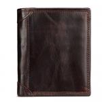 กระเป๋าสตางค์ผู้ชาย หนังวัวแท้ VEN Leather Circle Dark Brown