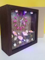 ของขวัญปีใหม่ให้เพื่อน นาฬิกาตั้งโต๊ะน่ารักๆ รุ่นทานตะวันชมพู LED