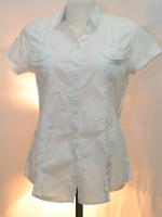 ON BOARD เสื้อเชิ๊ตขาว(สีอ๊อฟไวท์)เข้ารูปแขนสั้น