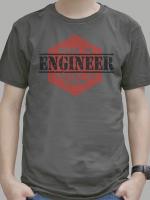 เสื้อยืด : Engineer : Work As Engineer but salary as Labor สีเทาดำ
