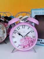 ของขวัญวันปีใหม่เก๋ๆ นาฬิกาปลุกตั้งโต๊ะแนว Vintage สีชมพู ไซส์ L