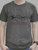 เสื้อยืด Maintenance สีเทาดำ