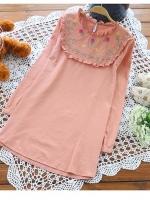 เสื้อคลุมท้อง แขนยาว มี 3 สี ขาว ฟ้า ส้ม ผ้าฝ้าย แบบสวย ผ้าฝ้าย ใส่สบาย