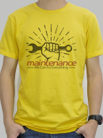 เสื้อยืด Maintenance สีเหลือง