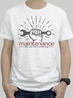 เสื้อยืด Maintenance สีขาว