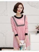 เสื้อคลุมท้อง แขนยาวสีชมพู