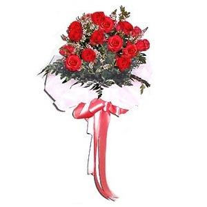 ช่อกุหลาบวาเลนไทน์แดงหรือขาว 20 ดอก