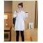 เสื้อกันหนาว คลุมท้อง สีขาว คอกลม แขนยาว thumbnail 2