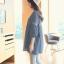 เสื้อคลุมท้อง แขนห้าส่วน คอวี ผ้าฝ้าย สีฟ้า thumbnail 7