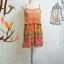 mini dress สายเดี่ยวไหมพรมถักต่อกระโปรงชีฟองอัดพรีทลายกราฟฟิค สายเดี่ยวปรับระดับได้ แต่งไหมพรมสีส้มถักลายสวย ต่อด้วยกระโปรงอัดกรีบพรีท สวยเว่อร์ มีซับยาวถึงกระโปรงเย็บติดไม่บาง thumbnail 2