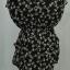 เสื้อกึ่งเดรสสั้น ผ้าชีฟองสีดำลายโบว์แขนกุด มีซับใน จั๊มเอว thumbnail 4