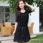 ชุดคลุมท้อง ตัวชุดด้านบนเป็นผ้าลูกไม้ ด้านล่างเป็นผ้าชีฟอง มี2สี สีดำ,สีชมพู thumbnail 4