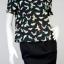 JASPAL เสื้อเบล้าซ์ สีดำลายนก ผ้ายืด thumbnail 1