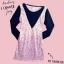 mini dress เข้ารูป ผ้าคอตต้อน พิมพ์ลายโจทย์คณิต สีโอรสคาดดำรูปตัววี แขนดำ5ส่วน อก30-34 เอว32 สะโพก34 ยาว32 thumbnail 1