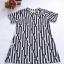 DRESS ไซส์อวบ อก 42 เดรส ผ้าผ้าทอหนังไก่ เนื้อผ้ายืดหยุ่นดี อก42 - 46 ยาว 33 สีดำ thumbnail 1