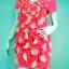 INDY fashion เสื้อเดรสสั้นสีชมพูลายจุดขาว thumbnail 1