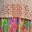 mini dress สายเดี่ยวไหมพรมถักต่อกระโปรงชีฟองอัดพรีทลายกราฟฟิค สายเดี่ยวปรับระดับได้ แต่งไหมพรมสีส้มถักลายสวย ต่อด้วยกระโปรงอัดกรีบพรีท สวยเว่อร์ มีซับยาวถึงกระโปรงเย็บติดไม่บาง thumbnail 8