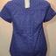 BLUE CORNER เสื้อเชิ๊ตแขนสั้น สีน้ำเงินลายจุดสีส้ม thumbnail 2