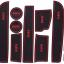 Slot Mat แผ่นยางรองในช่องรถยนต์ BMW 5 series 2014 thumbnail 3