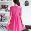 ชุดคลุมท้อง ตัวชุดด้านบนเป็นผ้าลูกไม้ ด้านล่างเป็นผ้าชีฟอง มี2สี สีดำ,สีชมพู thumbnail 3
