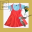 ชุดเอี๊ยมกระโปรง+เสื้อ เสื้อผ้าคอทต้อนมาพร้อมกับ เอี๊ยมกระโปรงผ้าโปโลสีส้ม ตัวเอี๊ยมเป็นสายผูก สามารถปรับระดับได้ งานน่ารักชิคๆ เสื้อ อก32-36 ยาว42ซม. เอี๊ยมเอว23-30 ยาว52ซม. thumbnail 1