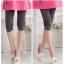 กางเกงเลกกิ้งคนท้อง มี 2 สีชมพู และ สีเทาเข้ม ผ้าใส่สบาย ขาสั้นสามส่วน thumbnail 6