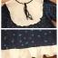 เสื้อคลุมท้อง ผ้าฝ้ายแขนยาวคอเต่ามีโบว์ตรงคอเสื้อ ชายกระโปรงตกแต่งด้วยผ้าระบาย thumbnail 3