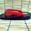 SUGOI-07 รองเท้าเกี๊ยะไม้ดำเชือกแดง thumbnail 3