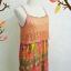 mini dress สายเดี่ยวไหมพรมถักต่อกระโปรงชีฟองอัดพรีทลายกราฟฟิค สายเดี่ยวปรับระดับได้ แต่งไหมพรมสีส้มถักลายสวย ต่อด้วยกระโปรงอัดกรีบพรีท สวยเว่อร์ มีซับยาวถึงกระโปรงเย็บติดไม่บาง thumbnail 4