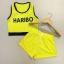 Haribo เหลือง เซตเสื้อครอป + กางเกงขาสั้น ผ้าลาครอส แนวสปอร์ท thumbnail 2