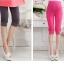กางเกงเลกกิ้งคนท้อง มี 2 สีชมพู และ สีเทาเข้ม ผ้าใส่สบาย ขาสั้นสามส่วน thumbnail 3