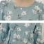 เสื้อคลุมท้อง แขน 3 ส่วน สีฟ้าลายดอกไม้ thumbnail 6