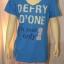 DEFRY01 เสื้อยืดคอวี สีฟ้าลายตัวอักษร I'm your and only thumbnail 1