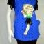 HARUKA เสื้อยืดสีน้ำเงินลายการ์ตูน thumbnail 1