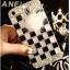 เคส oppo N1 เคสพลาสติกใสลายแฟชั่นประดับลายตารางขาวดำ 3D thumbnail 1