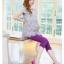 เลกกิ้งคนท้องขาสี่ส่วน สีม่วงสด ขยายได้ตามรูปท้อง มีจั้มด้านข้างเนื้อผ้านุ่ม ใส่สบาย thumbnail 3