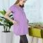 เสื้อให้นม แขนสั้น คอบัว สีชมพูเนื้อผ้าคอตตอน นุ่ม ใส่สบายด้านข้างมีกระเป๋าใส่ของ thumbnail 6