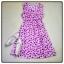 midi dress สีชมพู ไหมอิตาลี่ พิมพ์ลายหัวใจ สม็อครอบเอว งานน่ารักๆ อก34 เอว36 สพ.40 ยาว34 thumbnail 2