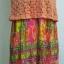 mini dress สายเดี่ยวไหมพรมถักต่อกระโปรงชีฟองอัดพรีทลายกราฟฟิค สายเดี่ยวปรับระดับได้ แต่งไหมพรมสีส้มถักลายสวย ต่อด้วยกระโปรงอัดกรีบพรีท สวยเว่อร์ มีซับยาวถึงกระโปรงเย็บติดไม่บาง thumbnail 3