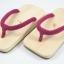 Slim Geta-04 รองเท้าเกี๊ยะแบบเรียบไม้ธรรมชาติ เชือกสีบานเย็นอ่อน thumbnail 1